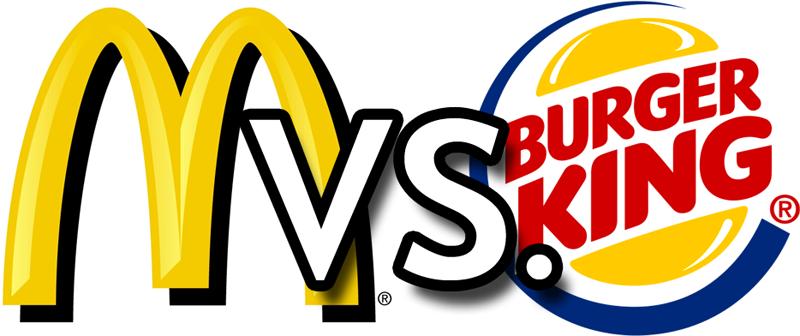 mcdonalds and burger king
